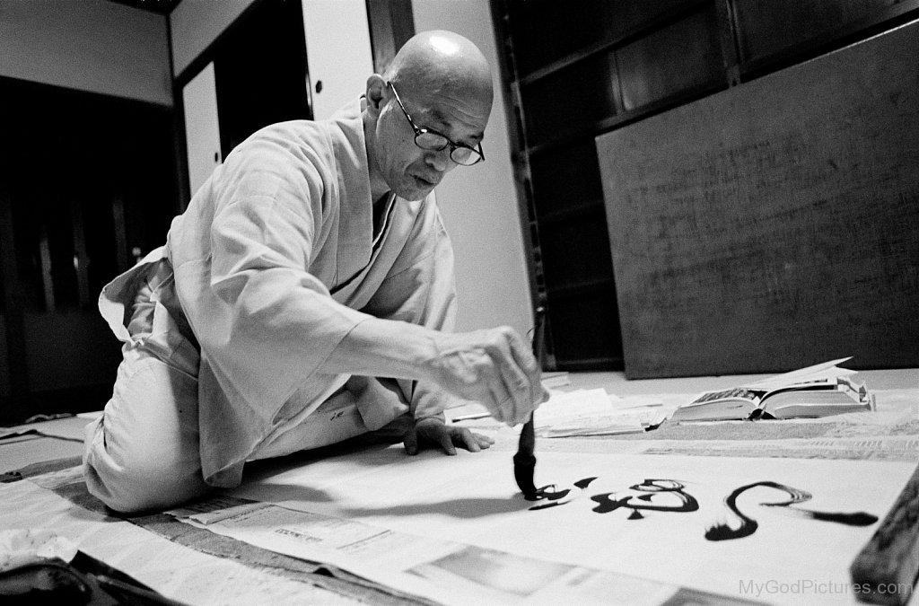 Shodo-Harada-Doing-Painting